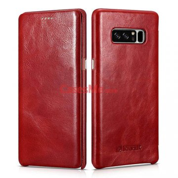 ICARER Samsung Galaxy Note 8 Curved Edge Vintage Case Red