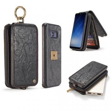 CaseMe Samsung Galaxy S8 Zipper Wallet Case