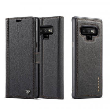 WHATIF Samsung Galaxy Note 9 Wallet Magnetic Detachable Case Black