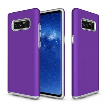 Samsung Galaxy Note 8 Rugged Anti-skid Hybrid PC + TPU Armor Protective Case Purple