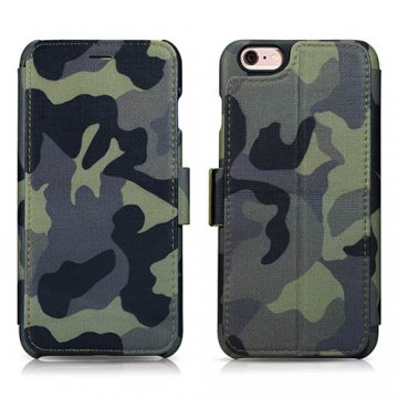 ICARER Camouflage Wallet Case with Four Credit Cards Slot Design For iPhone 6 Plus/ 6S Plus