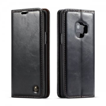 CaseMe Samsung Galaxy S9 Wallet Magnetic Flip Case Black