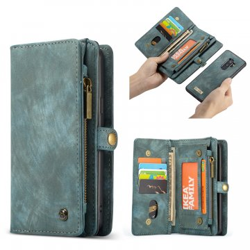 CaseMe Samsung Galaxy S9 Plus Zipper Wallet 2 in 1 Folio Case Green
