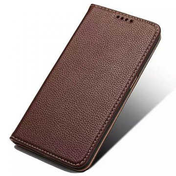 Litchi Pattern Genuine Leather Casual Stand Case For Samsung Galaxy S6