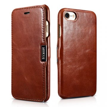 ICARER iPhone 8 Vintage Genuine Leather Case Brown