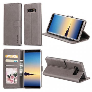 LC.IMEEKE Samsung Galaxy Note 8 Wallet Stand Leather Case Grey