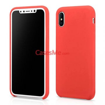XOOMZ iPhone X Liquid Silicone Soft Back Cover Case Red