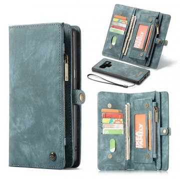 CaseMe Samsung Galaxy Note 9 Wallet Detachable 2 in 1 Case Blue