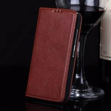 Litchi Pattern Genuine Leather Casual Stand Case For XiaoMi Mi 2/2S