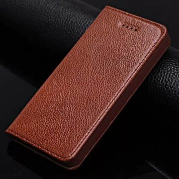 Litchi Pattern iPhone SE/5S/5 Genuine Leather Casual Stand Case