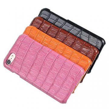 Embossed Crocodile iPhone 7 Genuine Leather Back Cover Case