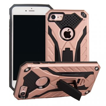 Apple iPhone 7 Knight Armor Hybrid Shockproof Stand Case Rose Gold