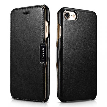 iCarer iPhone 7 Luxury Side Open Genuine Leather Case