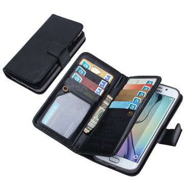 BRG Samsung Galaxy S6 Edge Plus Case 9 Card Slot 2 in 1 Detachable Magnetic Wallet Case Cover