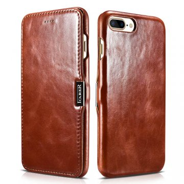iCarer iPhone 7 Plus Vintage Side Open Genuine Leather Case
