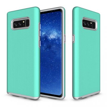 Samsung Galaxy Note 8 Rugged Anti-skid Hybrid PC + TPU Armor Protective Case Cyan