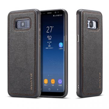 WHATIF Samsung Galaxy S8 Plus Waterproof Kraft Paper DIY Cover Black