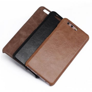Genuine Leather Matte Huawei P10 Plus Hard Back Cover Case
