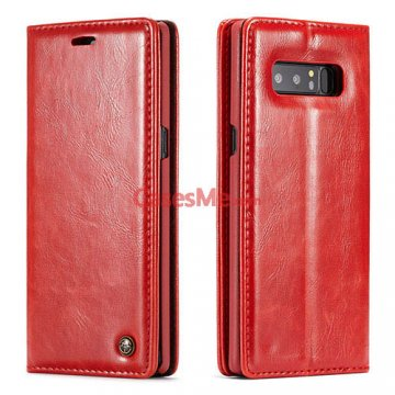 CaseMe Samsung Galaxy Note 8 Wallet Magnetic Flip Case Red