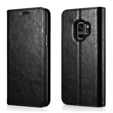 XOOMZ Samsung Galaxy S9 Stand Wallet Leather Folio Case Black