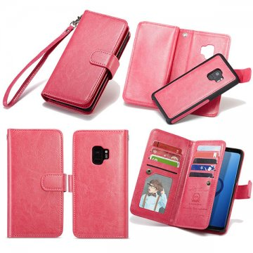 BRG Samsung Galaxy S9 Wallet Detachable Magnetic Case Rose