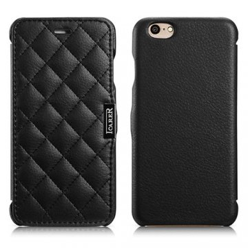 ICARER Microfiber Check Series Side-open Case For iPhone 6S/ 6