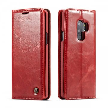 CaseMe Samsung Galaxy S9 Plus Wallet Magnetic Flip Case Red