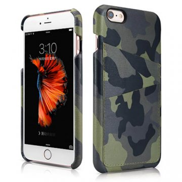 ICARER Camouflage Card-slot Back Cover Series For iPhone 6 Plus/ 6S Plus