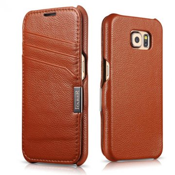 ICARER Card Slot Litchi Pattern Series Case For Samsung Galaxy S6