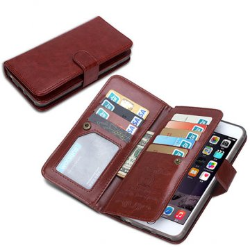 BRG iPhone 6S/ 6 Case 9 Card Slot 2 in 1 Detachable Magnetic Wallet Case Cover