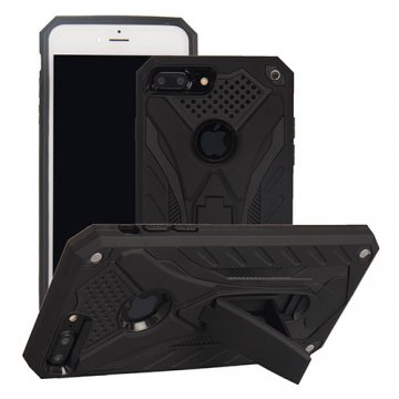 Apple iPhone 7 Plus Armor Hybrid Shockproof Stand Case Black