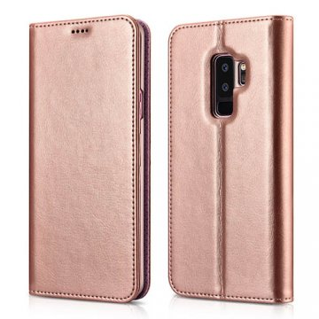XOOMZ Samsung Galaxy S9 Plus Stand Wallet Leather Folio Case Pink
