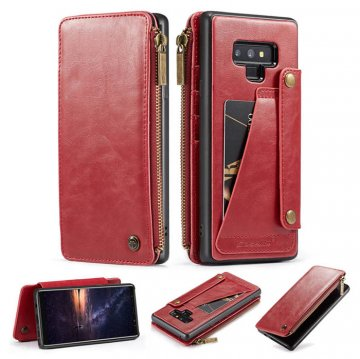 CaseMe Samsung Galaxy Note 9 Business Wallet 2 in 1 Case Red