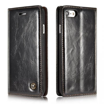 CaseMe iPhone 8 Wallet Magnetic Flip Case Black