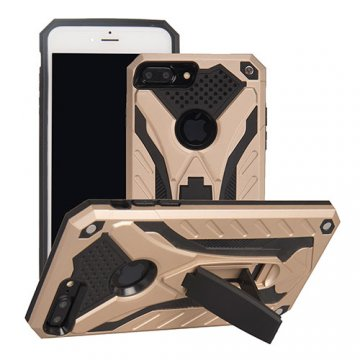 Apple iPhone 7 Plus Armor Hybrid Shockproof Stand Case Gold