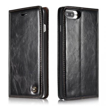 CaseMe 003 iPhone 7 Plus Business Style Magnetic Flip Wallet Case Black