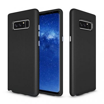 Samsung Galaxy Note 8 Rugged Anti-skid Hybrid PC + TPU Armor Protective Case Black