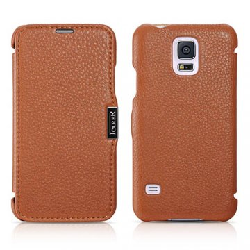 ICARER Litchi Pattern Series Side-open Case For Samsung Galaxy S5