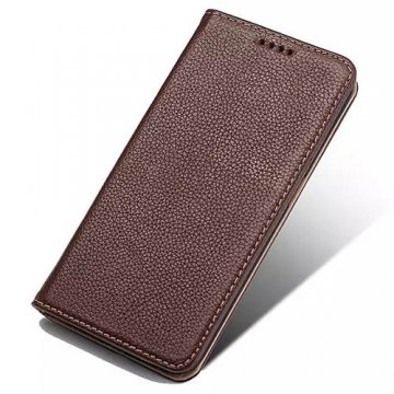 Litchi Pattern Genuine Leather Casual Stand Case For Samsung Galaxy S6 Edge