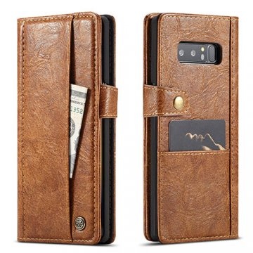 CaseMe Samsung Galaxy Note 8 Retro Wallet Leather Case Brown