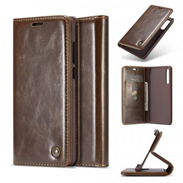 CaseMe Huawei P20 Pro Wallet Magnetic Flip Case Brown