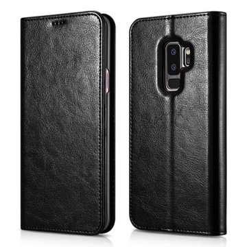 XOOMZ Samsung Galaxy S9 Plus Stand Wallet Leather Folio Case Black