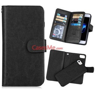 BRG iPhone 8 Wallet 9 Card Slots Detachable Magnetic Case Black