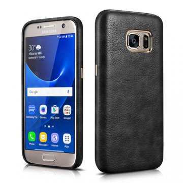 XOOMZ Samsung S7 Liquidmetal Premium Retro PU Leather Back Cover Case