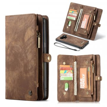 CaseMe Samsung Galaxy Note 9 Wallet 2 in 1 Magnetic Case Brown