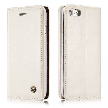 CaseMe iPhone 8 Wallet Magnetic Flip Case White