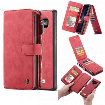 CaseMe Samsung Galaxy Note 9 Wallet Detachable 2 in 1 Case Red