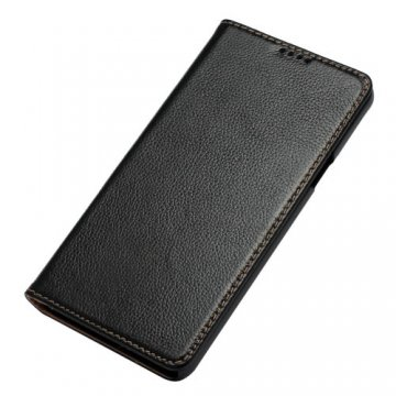 Litchi Pattern Genuine Leather Casual Stand Case For Samsung Galaxy Note 5