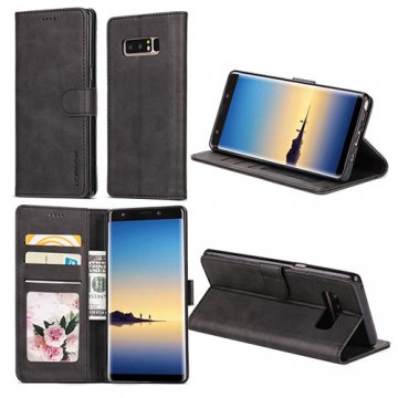 LC.IMEEKE Samsung Galaxy Note 8 Wallet Stand Leather Case Black