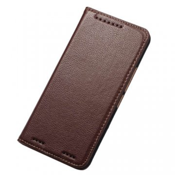 Litchi Pattern Genuine Leather Casual Wallet Stand Case For HTC One M9 Plus